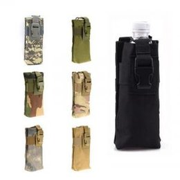 Hiking accessories online shopping - Square Kettle Hanging Bag Camouflage Tactics Interphone Storage Bags For Outdoor Waterpfoof Tool Pouch Camping Accessory bag LJJV220