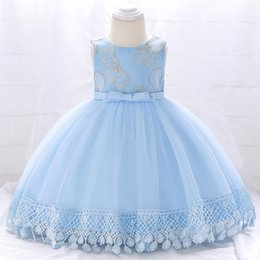 Dressing Baby For Winter Australia - Winter Clothes Baby Girl Dress 2018 Princess Christening Dress For Girls Kids First Birthday Girl Party Wedding Dress 6 12 Month Y19061101