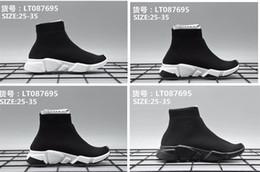 BaBy girl Boy shoe socks online shopping - High Quality Speed Trainer Toddler Shoes Triple Black White Kids Shoes Socks Sneakers Portable Boys Girls Children Shoes baby gift