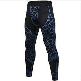 man tight yoga pant NZ - Hot Sale Casual Striped Compression Pants Sports Running Tights Men Jogging Skinny Leggings Joggers Fitness Gym Clothing Yoga Pants