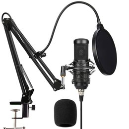 Vente en gros ensembles microphone Sutdio Vocal Pack cardioïde à condensateur micro enregistrement informatique en direct streaming Podcasting et VoiceOver avec le kit de support