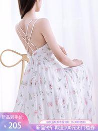 $enCountryForm.capitalKeyWord Australia - Fairy2019 Princess Beautiful Camisole Dress High-end Thin New Pattern Temperament Chiffon Shivering Skirt V Lead Summer 920801