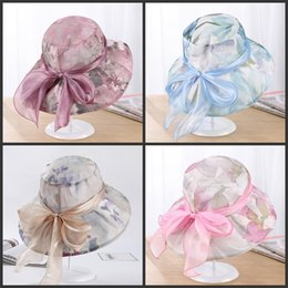 4f9eb8efc7f Summer hat StyleS online shopping - Collapsible Sunscreen Bow Wide Brim Hats  Sunshade Fashion Elegance Wild Find Similar