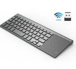 usb numeric keypad for laptop NZ - Thin 2.4GHz USB Wireless Mini Keyboard with Number Touchpad Numeric Keypad for Android windows Tablet,Desktop,Laptop,PC