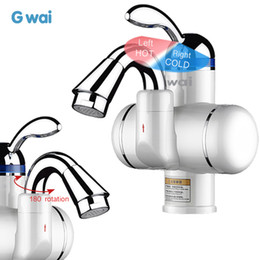 Faucet Kitchen Shower Australia - GWAI Tankless Instant Faucet Water Heater Electric Water Tap Kitchen Bathroom Hot Cold Mixer Water Taps Banheiro Torneira Silver