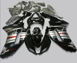 Custom Zx636 Australia - TOP quality New ABS motorcycle Fairings kits fit for kawasaki 07 08 ZX 6R 636 2007 2008 Ninja ZX6R ZX636 fairing set custom silver black