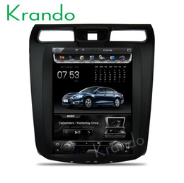"Touch Screen Car Radio Navigation Australia - Krando Android 6.0 12.1"" Vertical screen car DVD radio player GPS for Nissan Teana Altima 2013+ full touch screen navigation system"