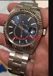 mens watches small wrist NZ - Luxury mens watches 3 Style 42mm SKY-DWELLER 326934 Automatic Stainless steel 2813 movement 18k gold Small Dial Working watch men wrist w