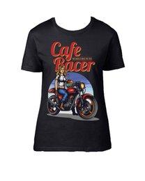 Motorrad Schrauber Cafe Racer Oldschool S-5XL LIVE FAST SKULL BIKER T-Shirt