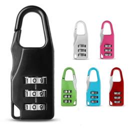 $enCountryForm.capitalKeyWord NZ - 3 Mini Dial Digit Number Code Password Combination Padlock Security Travel Safe Lock for Padlock Luggage Lock of Gym