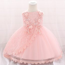 Princesses Clothes Australia - 2019 Christening Dress For Baby Girl Clothes Wedding Sequin Dresses Girl One Birthday Dress Party Princess Dress 6 9 12 24 Month