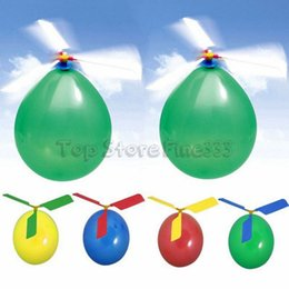 Portable helicoPter online shopping - Flying Balloon Creative Helicopter Balloon Portable Outdoor Playing Flying Toy Birthday Party Decoration Kids Party Supply Children s Gift