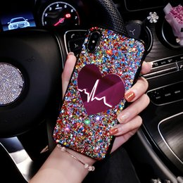 iphone 3d big case Australia - Glitter Sequin Big Heart phone Case For iPhone 11 Pro Max X XS MAX 7 8 plus 3D Love Soft TPU Cover