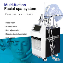 lift facial mask NZ - Newest 11 in 1 Hydradermabrasion Ultrasonic RF BIO Cold Hammer Oxygen Spray Led Mask Face Lifting Skin Tightening Hydra Facial Machine
