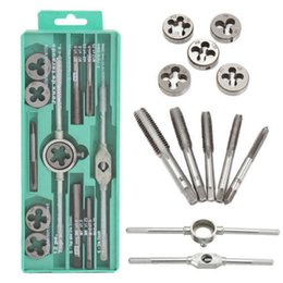 Thread Tapping Tools Australia - 12 20 40Pcs Metric Tap Wrench and Die Pro Set M6-M12 M3-M12 Nut Bolt Alloy Metal Hand Tools Adjustable Wrench Threaded Cutting Set
