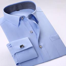 $enCountryForm.capitalKeyWord Australia - Men's French Shirt Cufflinks 2017 New Men's Shirt With Long Sleeve Casual Men's Brand Shirts Slim Fit French Cuffs Shirts