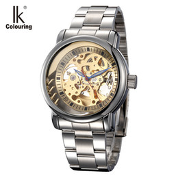 $enCountryForm.capitalKeyWord Australia - IK Colouring Mens Watches Top Brand Luxury Stainless Steel Band Herren Uhren Automatic Mechanical Skeleton Wristwatch Male Clock