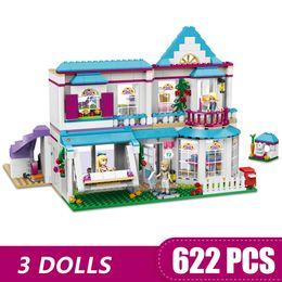 Blocks For Girls Australia - 622PCS Small Building Blocks Toys Compatible with Legoe Stephanie's House Gift for girls boys children DIY