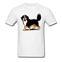 top dog clothing NZ - Bernese Dog T-shirt Printed Men T Shirt 100% Cotton Clothing Cute Tops Cartoon Tee Pet Lover Gift Tshirt Short Sleeve