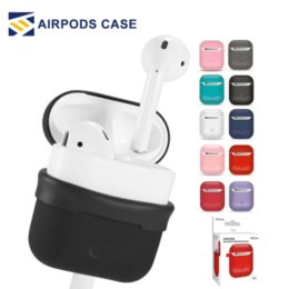 Oem retail online shopping - OEM Design For Apple AirPods Color Protective in Silicone Cover Skin Compatible with apple airpods Charging Case With Retail package