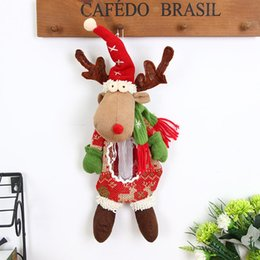 Bag Black rope online shopping - Cute Candy Bag With Hanging Rope Christmas Home Decoration As Picture Elk Snowman Old