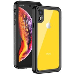 Purple Iphone Screens Australia - Full-body Rugged Case Underwater Shockproof Dirtproof Waterproof Case For Apple iPhone X XR XS Max with Screen Protector