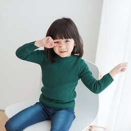 male full belt Australia - Kids' Sweater 2018 Autumn And Winter Korean-style Male Baby Dehaired Angora Core-Spun Yarn Base Shirt Solid Color Versatile GIRL