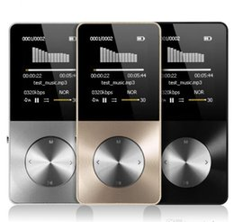 Slim Mp3 Mp4 Player Australia - NEW Wholesale Metal MP3 MP4 Player 8gb 16GB Video Sport MP4 Flash HIFI Slim MP4 Video Player Radio Recorder Walkman With Speaker