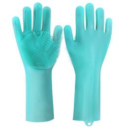 $enCountryForm.capitalKeyWord UK - 2pcs pair Magic Washing Brush Silicone Glove Resuable Household Scrubber Anti Scald Dishwashing Gloves Kitchen Bed Bathroom Cleaning Tools
