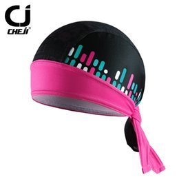 girl riding bicycle Australia - Bike Bicycle cycling headband riding road pirate women bicycle scarf bandana mountain bike hat cap Girls MTB Pirate Scarf