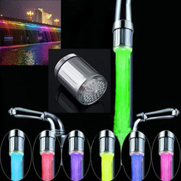 $enCountryForm.capitalKeyWord Australia - 7 Colors Changing Glow LED Light faucet Creative kitchen LED Light Water faucets Water Stream Faucet Tap for Bathroom Kitchen