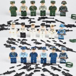 $enCountryForm.capitalKeyWord Australia - 18pcs set Military Navy Air Land Force Soldiers Army Building Blocks Figures Models Sets Children Toys