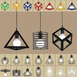 Superior Pink Light Fixtures Online Shopping   Vintage Retro Nordic Loft Pendant Lights  LED Lamp Metal Cube