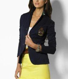 Polo Coats Australia - Outdoor Winter Ladies Single Breasted Polo Jacket Blazer Cotton Long Sleeve Slim Casual Coats Sport Business Outwear S-XL