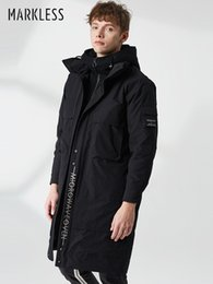 $enCountryForm.capitalKeyWord NZ - Markless Long Thick 90% White Duck Down Men 2018 Winter Warm Hooded Down Coat Windproof Jacket and Parka YRA8314M