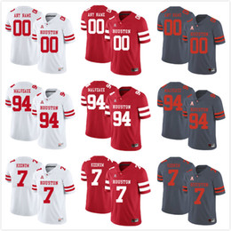 587fbef76 Custom Mens Youth Houston Cougars Any Name Any Number Personalized Kids Man  Home Away NCAA College Football Jerseys
