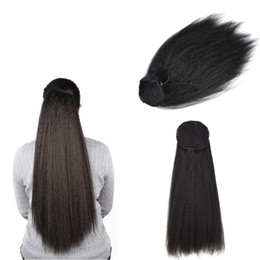 $enCountryForm.capitalKeyWord UK - Sara Lady Women Kinky Horsetail Pull on The Rope Ponytail Clip In Hair Extensions Yaki Puffy Pony Tail Heat Resistant Hairpieces 55CM,22Inch