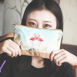 Cheap Handbag Bags Wholesale Australia - Women Cheap Handbags Canvas Cartoon Printing Clutch Bag Female Zip Coin Handbag Purse Cute Ladies 6 Inches Phone Bag Long Wallet