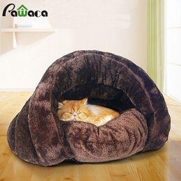 $enCountryForm.capitalKeyWord Australia - bed house Small Pet Dog Bed Sleeping Bag Warm Soft Comfortable Puppy Kitten Cave Nest Soft Brown Dog Cat
