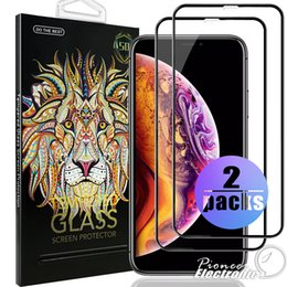 3d glasses pack online shopping - 2 Pack D Curved Full Cover Tempered Glass Screen Protector For Iphone XR XS MAX Film D Edge Screen Protector For Iphone Plus