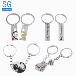 e399983c62 Moon couple keychains online shopping - SG Dropshipping Couple Keychains  Lovers Heart Key Lock I Love