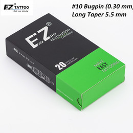 assorted boxes NZ - EZ Revolution Needle Cartridge Long Taper #10 Bugpin Magnum Tattoo Needle for Cartridge Tattoo Machine 20PCS Box CX200805