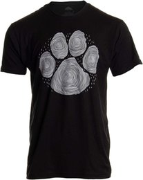 Cool Animal T Shirts UK - Paw Print Line Art | Artistic Illustration Nature Men Women Dog Cat Cool T-Shirt