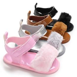 $enCountryForm.capitalKeyWord Australia - Baby Sandals Fur Cute Infant Girls Sandal Baby Shoes Summer Toddler Princess Non-slip Crib Shoes For Girl Children Sandal