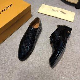 Shoe Models For Men Australia - HOT!8 Model High Quality Luxury Dress Shoes Men Leather Shoe Mens Wedding Shoes Casual Shoes For Men Slip-on Gift Lace-ups Grey Black Brown