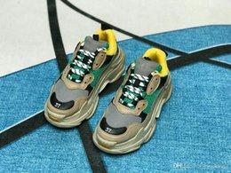 Venta al por mayor de 2019 Multi Luxury Triple S Diseñador Low Old Dad Sneaker Combinación Soles Botas para mujer de moda casual zapatos de alta calidad superior tamaño 36-45