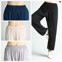3474a914f6b Kung fu Tai chi Pants Martial arts Wing Chun Clothing Wushu Trousers  chinese clothes for men wushu uniform
