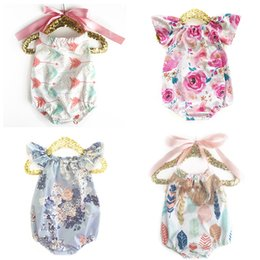 $enCountryForm.capitalKeyWord Australia - Baby Girls Rompers Backless Cake Bandage Bow Elastic Mermaid Arrow Tent Cactus Printed Jumpsuit Infant Toddler Clothing Summer Beach Outfits