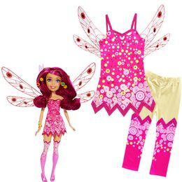 Carnival Suits Kids Australia - Cartoon MIA Cosplay Costumes Girl Vest Wing Top + Pants Suit Dress Unicorn Mia's Elven Kingdom kids Party Cosplay 100-140cm