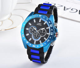 Wholesale 2019 INVICTA Luxury Gold Watch dials working Men Sport Quartz Watches Chronograph Auto date rubber band Wrist Watch for male gift DE